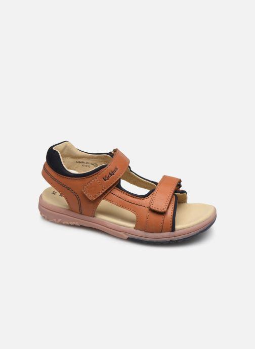 Sandaler Kickers Platino Brun detaljeret billede af skoene