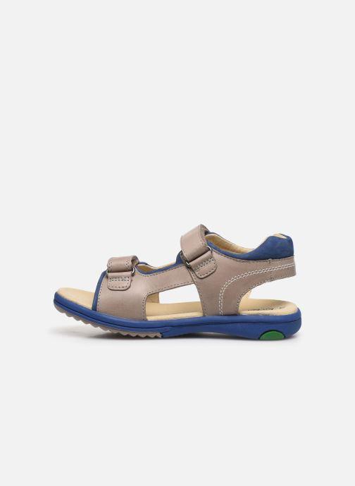 Sandalen Kickers Platino grau ansicht von vorne