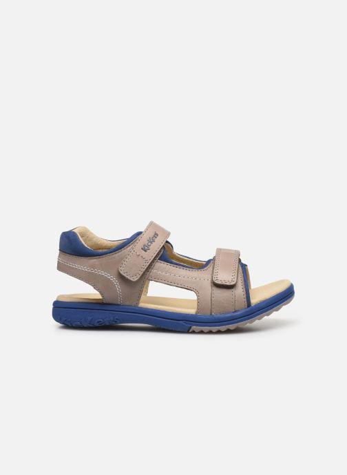 Sandali e scarpe aperte Kickers Platino Grigio immagine posteriore