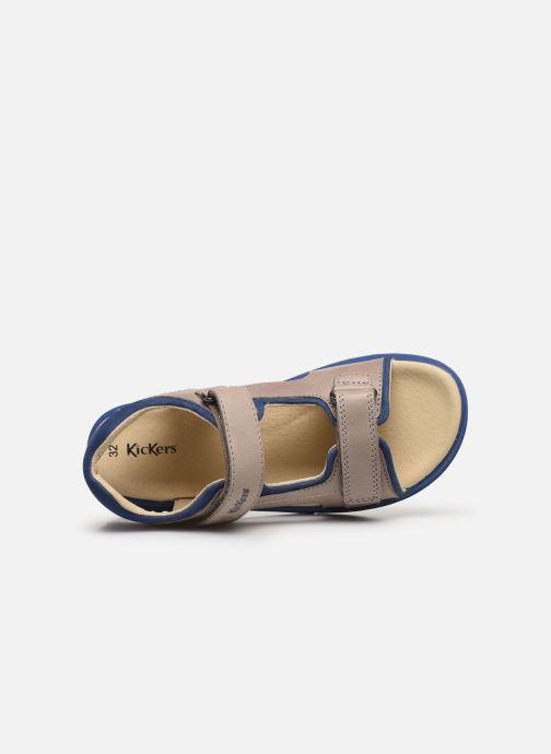 Sandalen Kickers Platino grau ansicht von links