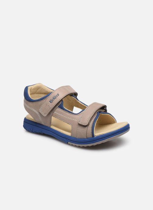 Sandales et nu-pieds Kickers Platino Gris vue détail/paire