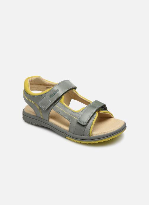 Sandales et nu-pieds Kickers Platino Vert vue détail/paire