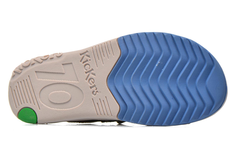 Sandales et nu-pieds Kickers Platino Bleu vue haut