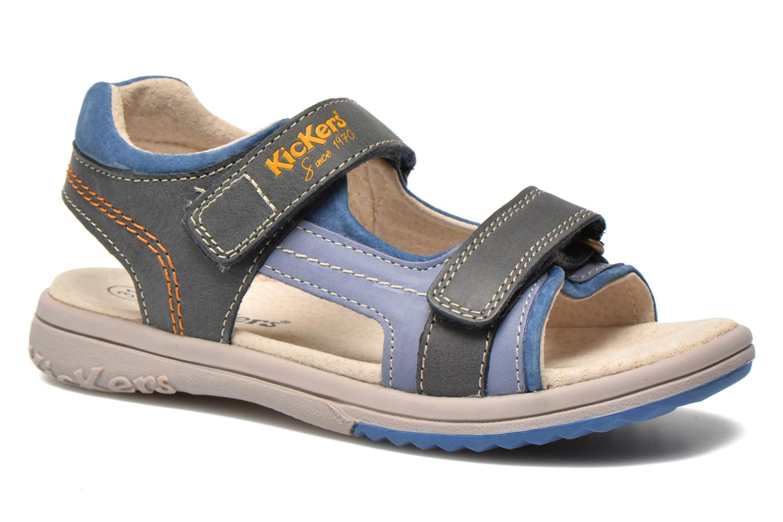 Sandales et nu-pieds Kickers Platino Bleu vue détail/paire