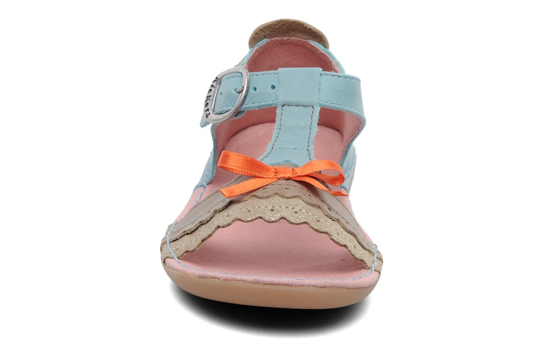 Sandales et nu-pieds Kickers Especial Bleu vue portées chaussures