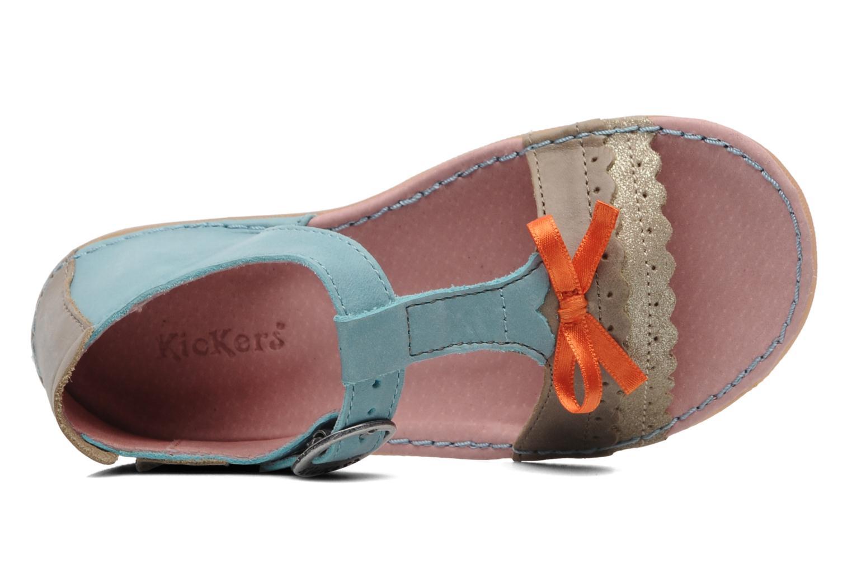 Sandalen Kickers Especial blau ansicht von links