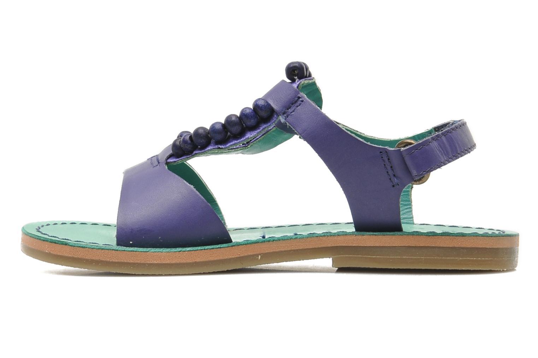 Sandales et nu-pieds Kickers Paprika Violet vue face
