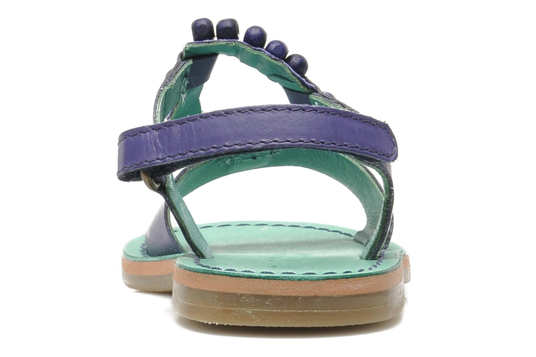 Sandales et nu-pieds Kickers Paprika Violet vue droite