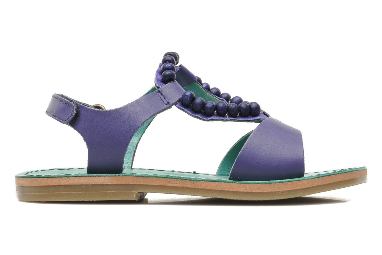 Sandales et nu-pieds Kickers Paprika Violet vue derrière