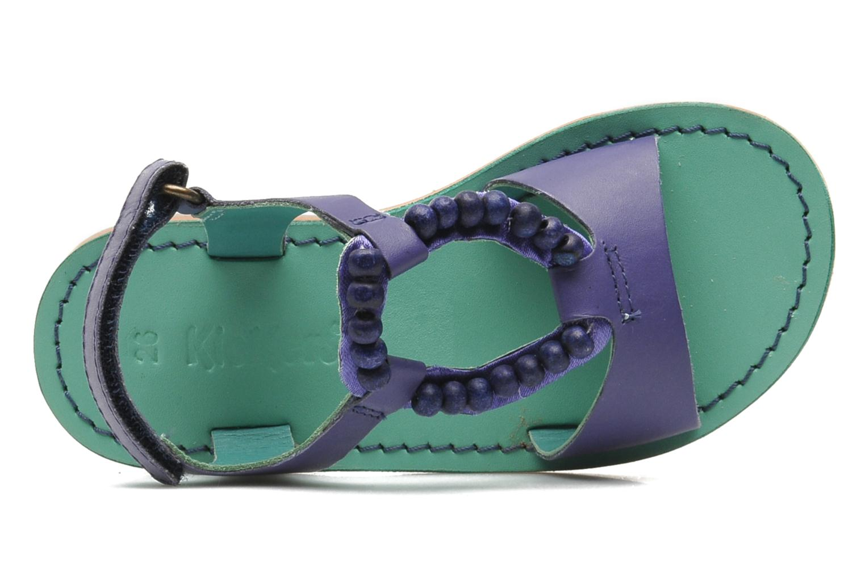 Sandales et nu-pieds Kickers Paprika Violet vue gauche