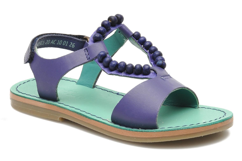 Sandales et nu-pieds Kickers Paprika Violet vue détail/paire