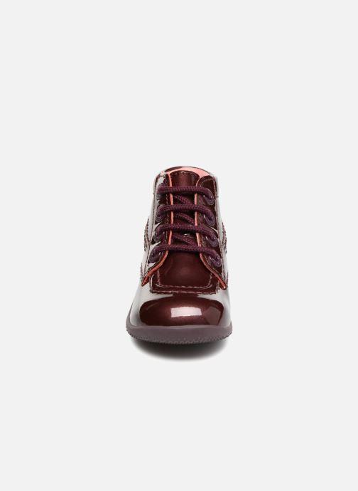 Bottines et boots Kickers Billista Bordeaux vue portées chaussures