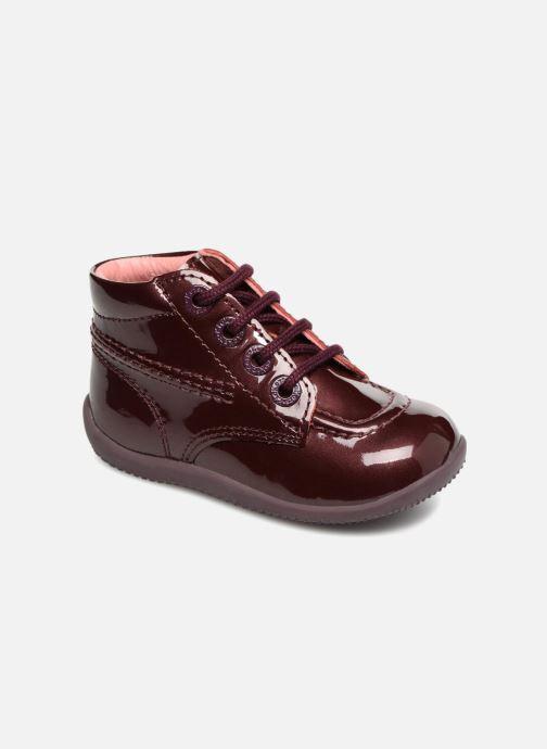 Bottines et boots Kickers Billista Bordeaux vue détail/paire