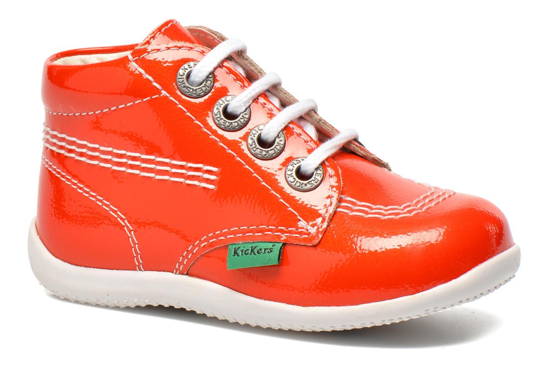 Bottines et boots Kickers Billista Orange vue détail/paire