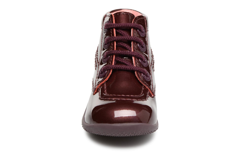 Stiefeletten & Boots Kickers Billista weinrot schuhe getragen