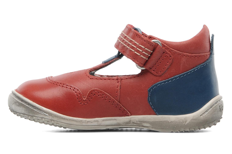 Sandales et nu-pieds Kickers Gusto Rouge vue face