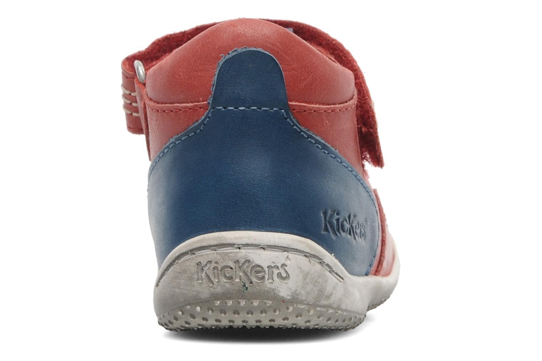 Sandales et nu-pieds Kickers Gusto Rouge vue droite