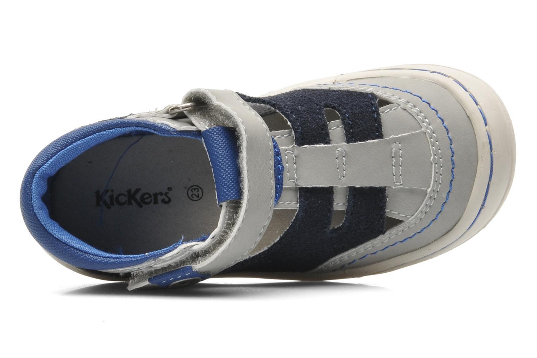 Sandales et nu-pieds Kickers Zelou Gris vue gauche