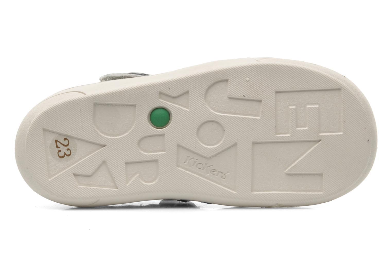 Sandales et nu-pieds Kickers Zelou Gris vue haut