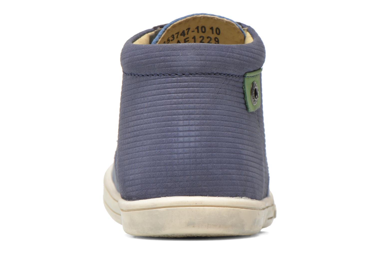 Chaussures à lacets Kickers Tradi T Bleu vue droite