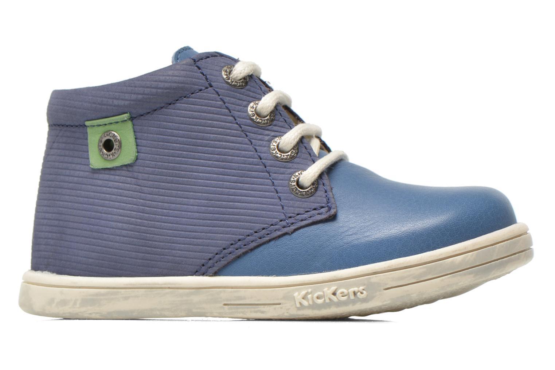 Chaussures à lacets Kickers Tradi T Bleu vue derrière