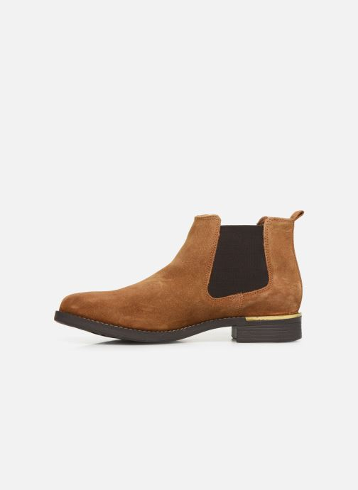 Ankle boots S.Oliver Tania Brown front view