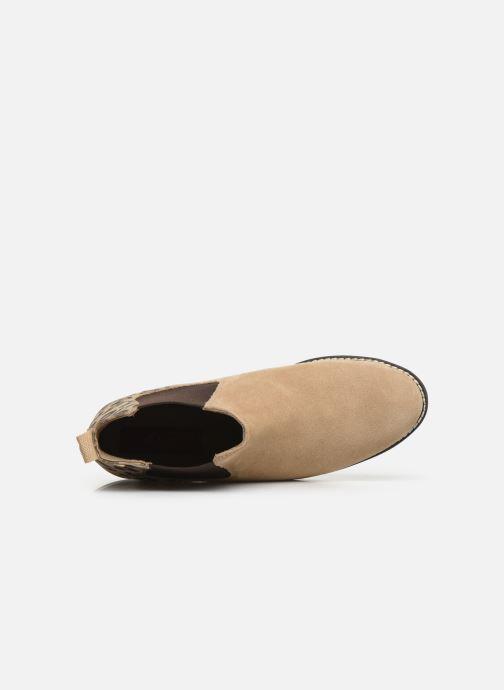 Stiefeletten & Boots S.Oliver Tania beige ansicht von links