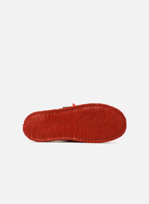 Pantoffels Giesswein Plein Rood boven