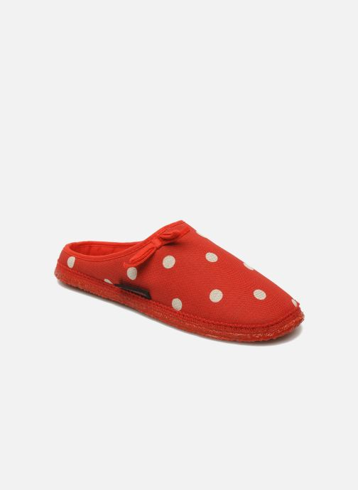 Slippers Giesswein Plein Red detailed view/ Pair view