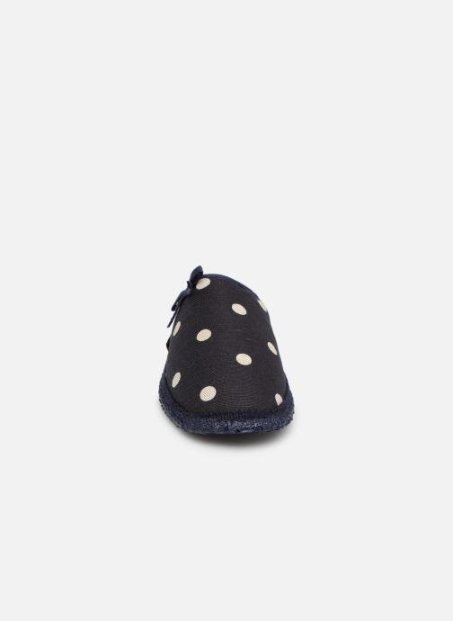 Pantoffels Giesswein Plein Blauw model
