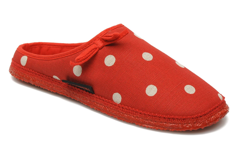 Hjemmesko Giesswein Plein Rød detaljeret billede af skoene
