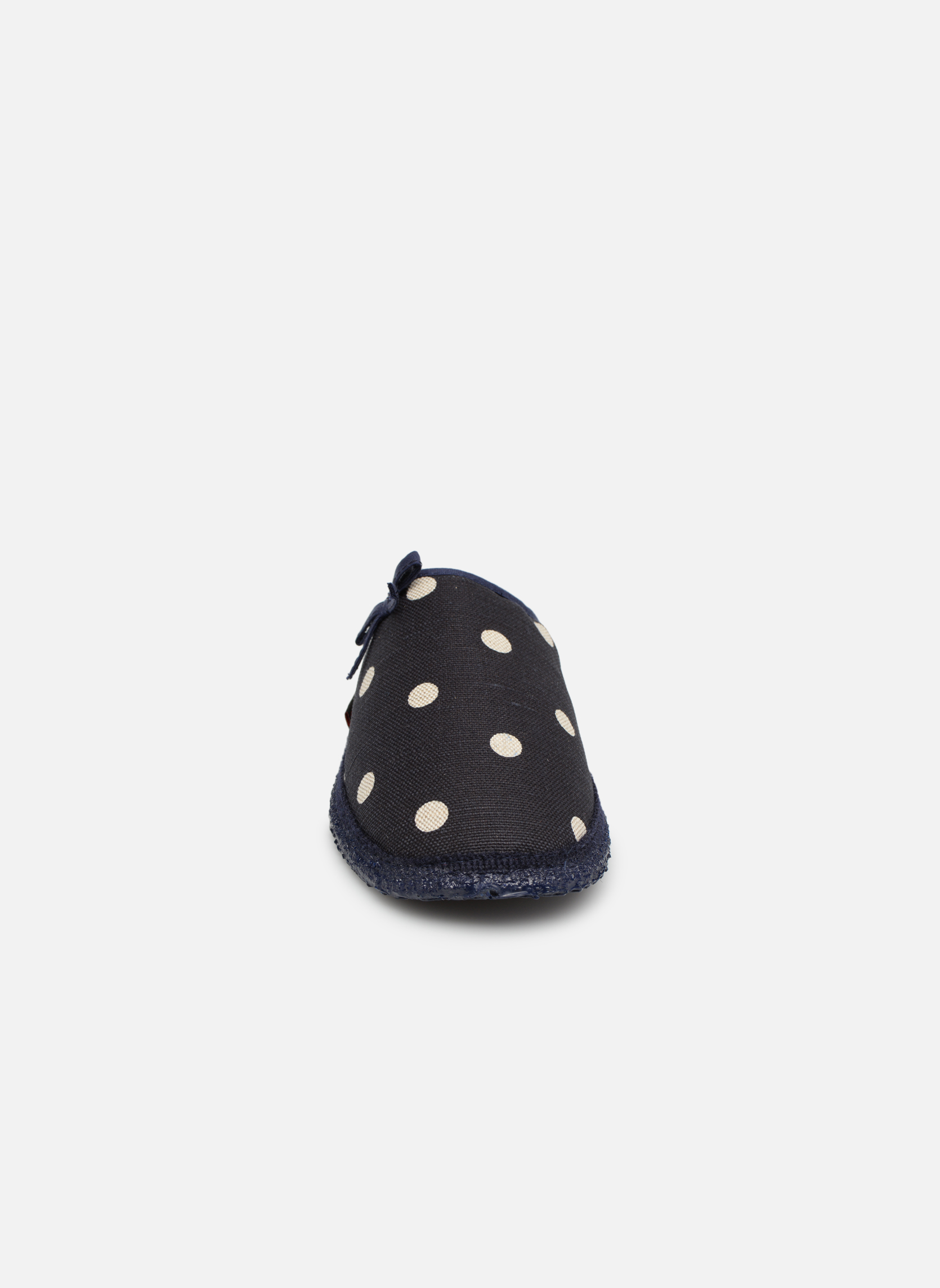 Chaussons Giesswein Plein Bleu vue portées chaussures