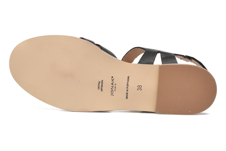 Sandales et nu-pieds Jonak Macara Noir vue haut