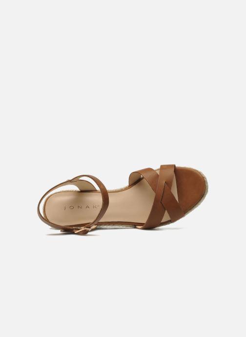 Sandales et nu-pieds Jonak Tunia Marron vue gauche