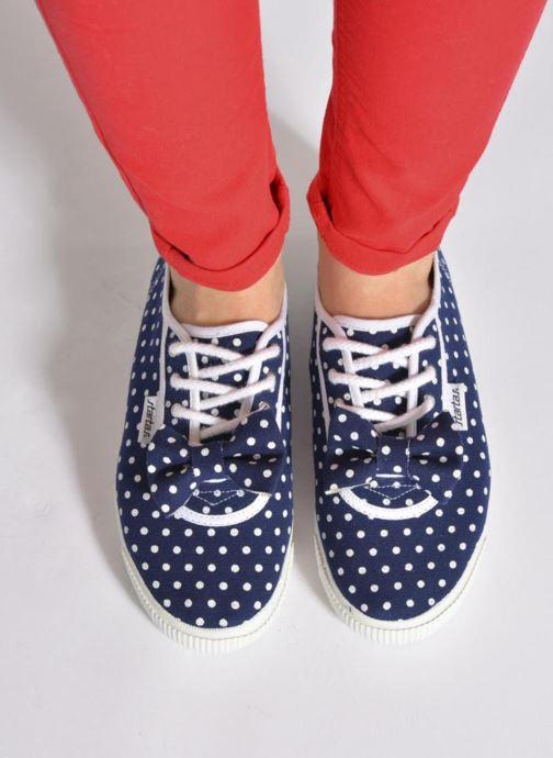 Sneaker Startas Polka Dots blau ansicht von unten / tasche getragen