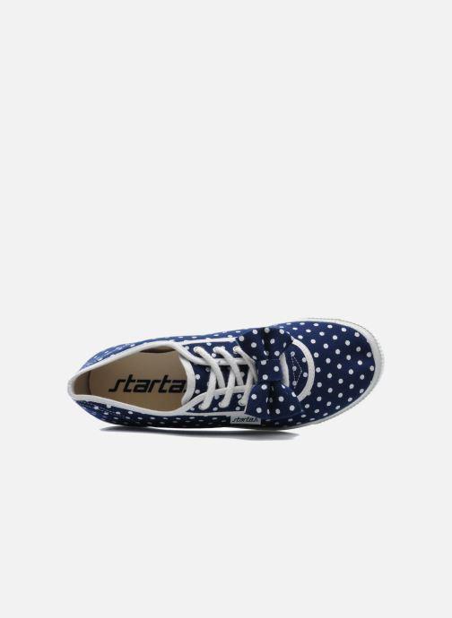 Sneaker Startas Polka Dots blau ansicht von links