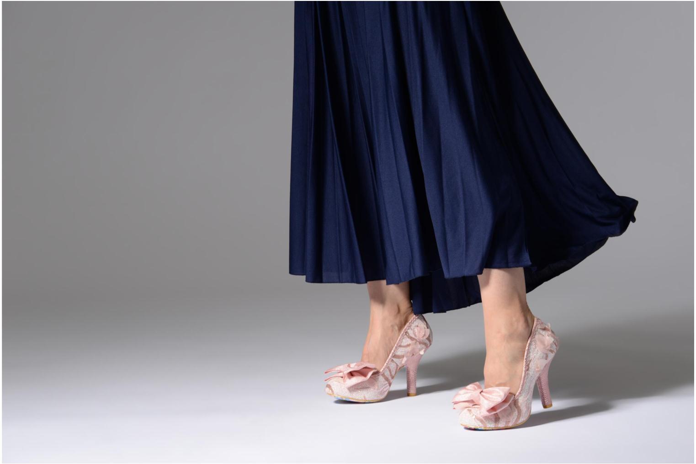 Zapatos de tacón Irregular choice Mal E Bow Rosa vista de abajo