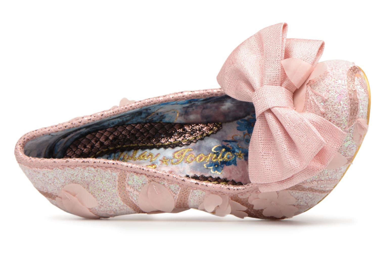 Zapatos de tacón Irregular choice Mal E Bow Rosa vista lateral izquierda