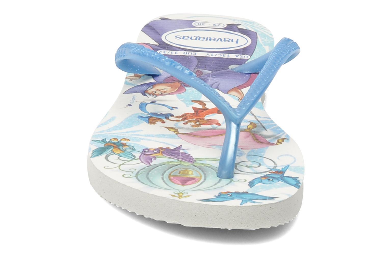 Tongs Havaianas Slim Princess Bleu vue portées chaussures