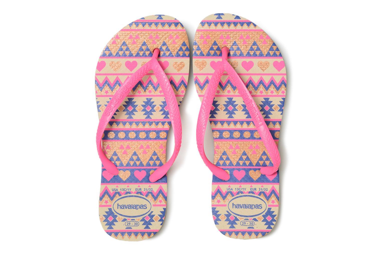 Zehensandalen Havaianas Kids Slim Fashion rosa schuhe getragen