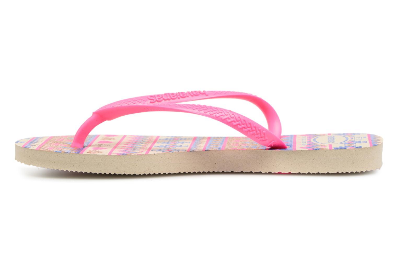 Zehensandalen Havaianas Kids Slim Fashion rosa ansicht von vorne
