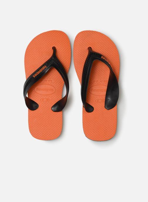 Tongs Havaianas Kids Max Orange vue portées chaussures