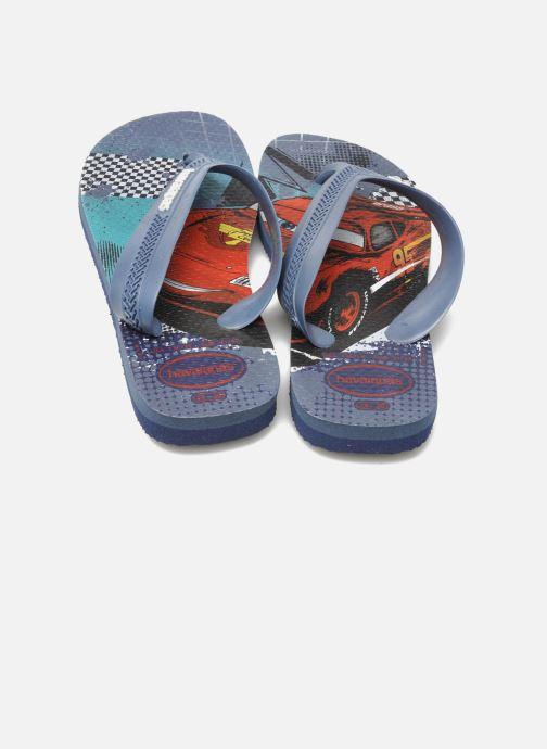 Chanclas Havaianas Kids Max Cars Azul vista 3/4