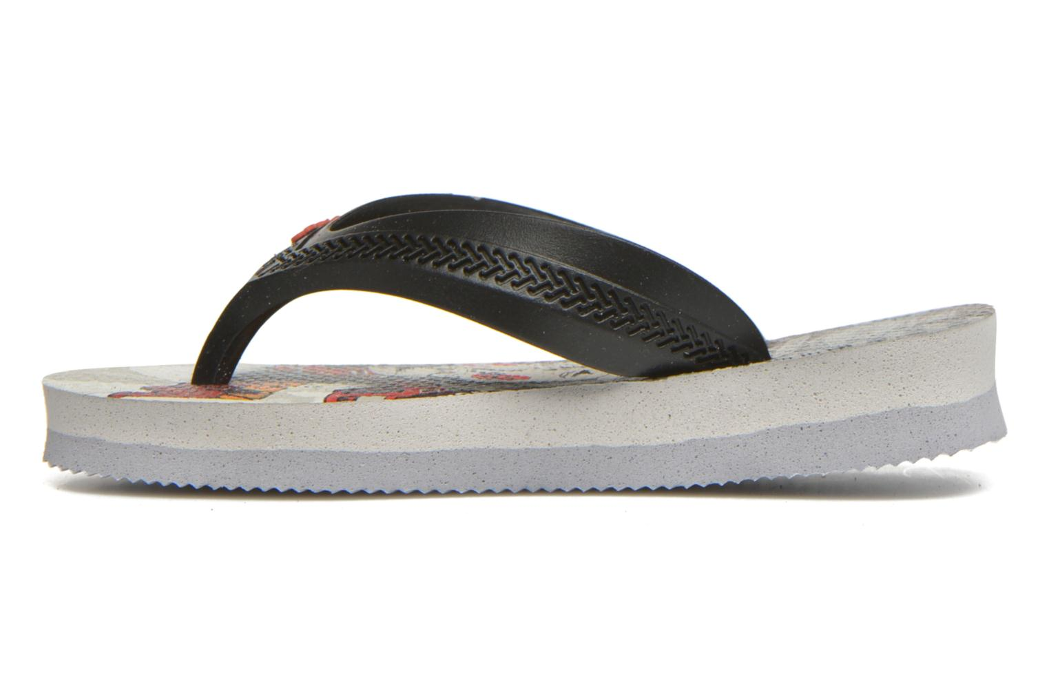 Flip flops Havaianas Kids Max Cars Grey front view