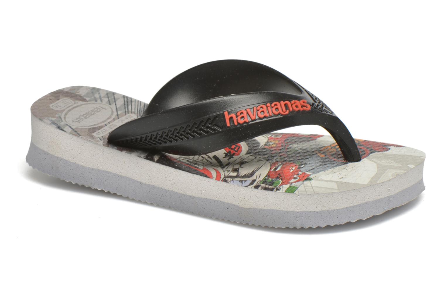 Flip flops Havaianas Kids Max Cars Grey detailed view/ Pair view