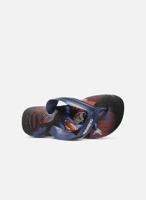Flip flops Havaianas Kids Max Heroes Blue view from the left