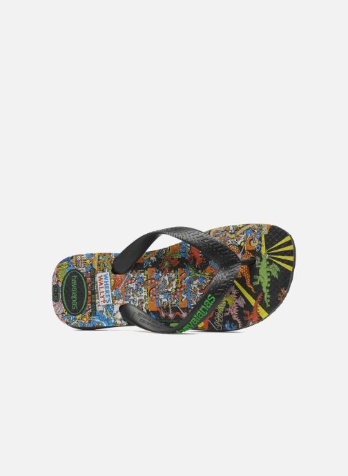 Flip flops Havaianas Ou Est Charlie Black view from the left