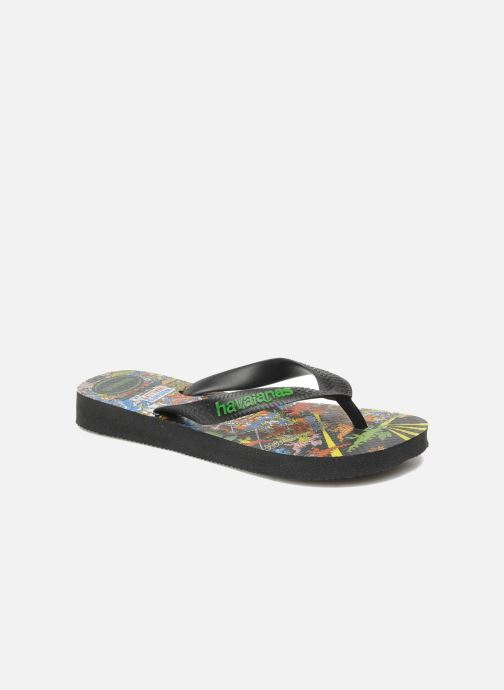 Flip flops Havaianas Ou Est Charlie Black detailed view/ Pair view