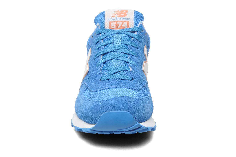 Sneakers New Balance WL574CPT-B Azzurro modello indossato