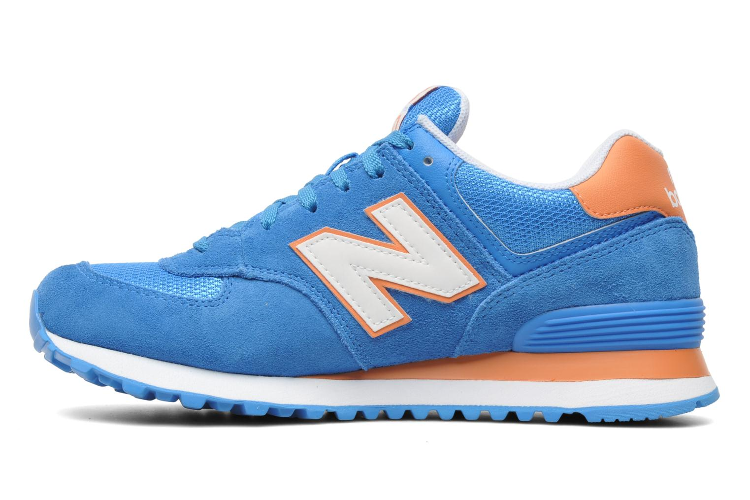 Baskets New Balance WL574CPT-B Bleu vue face